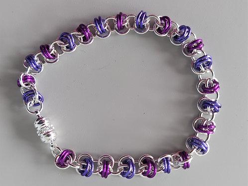 Purple Orbital weave bracelet