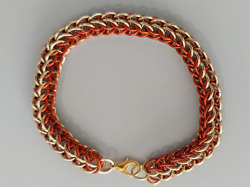 NuGold and rust full Persian bracelet