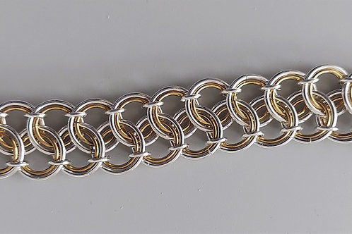 Sterling silver and NuGold bracelet