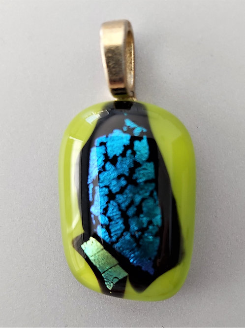 Green and blue dichroic pendant