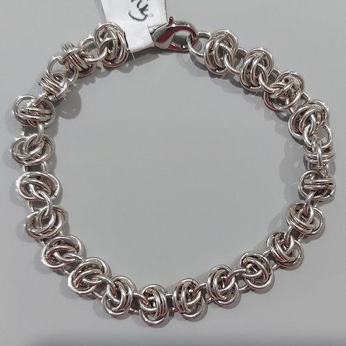 Double Orbital weave bracelet in Sterling