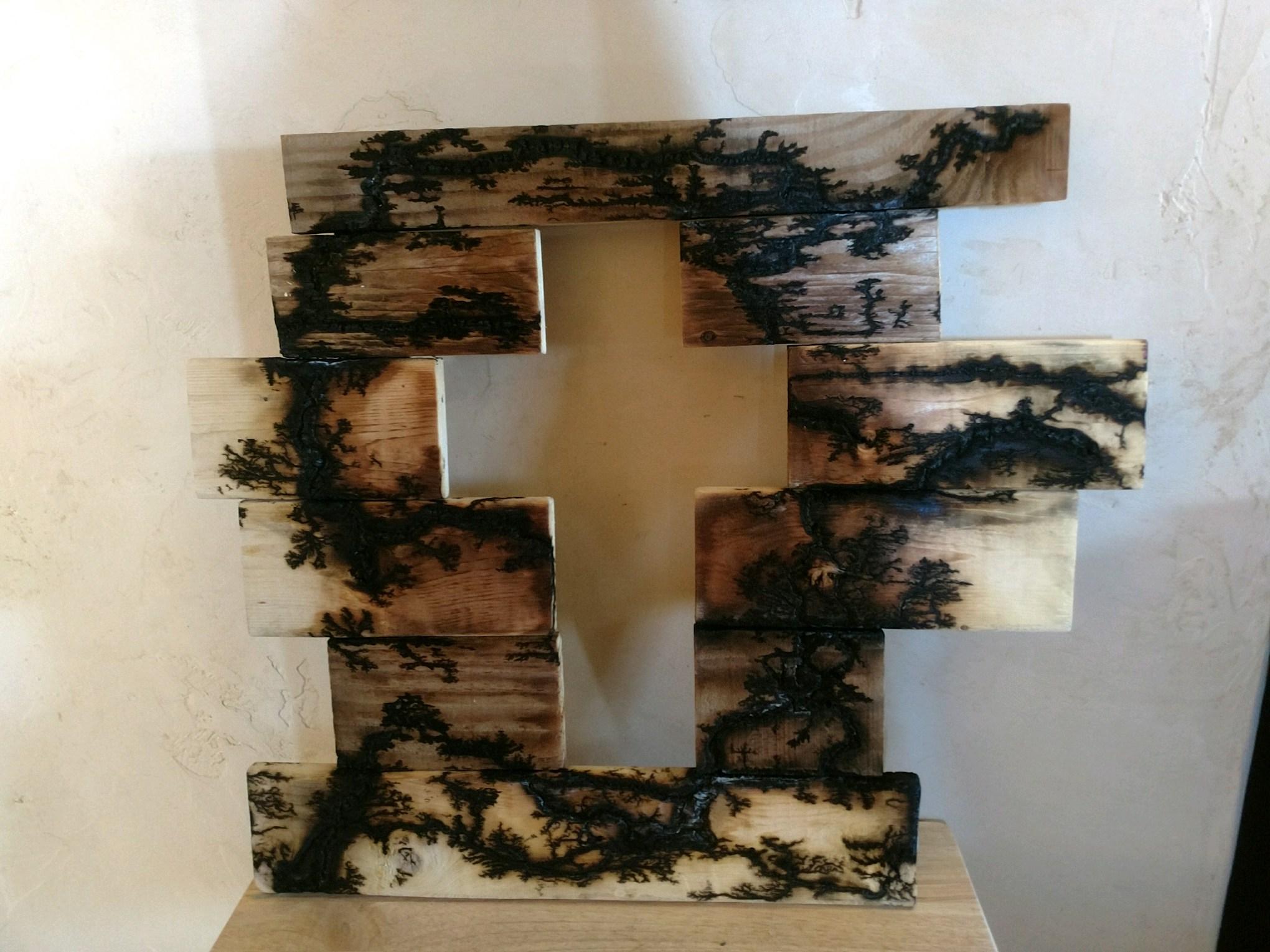 Cutout Cross Burned