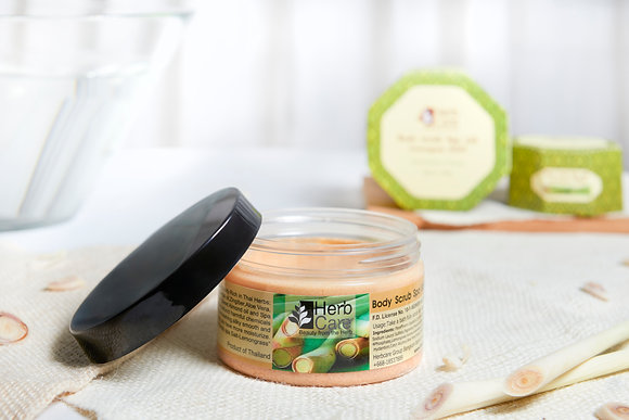 Body Scrub Spa salt Lemongrass