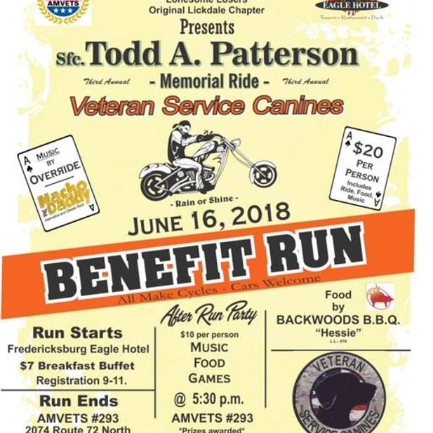 Todd Paterson Memorial Ride