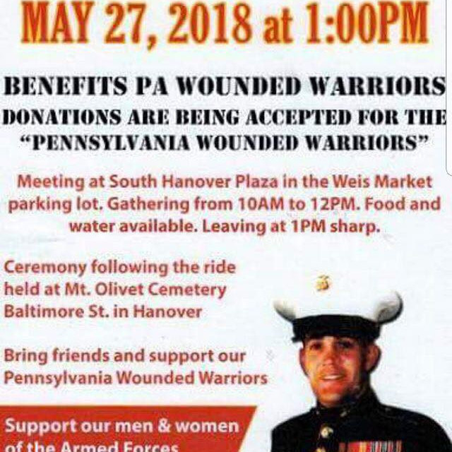 Jeremy Redding Memorial Ride With PA Wounded Warriors