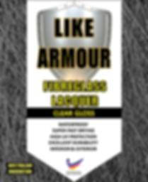 Label - Front - Like Armour - Fibreglass