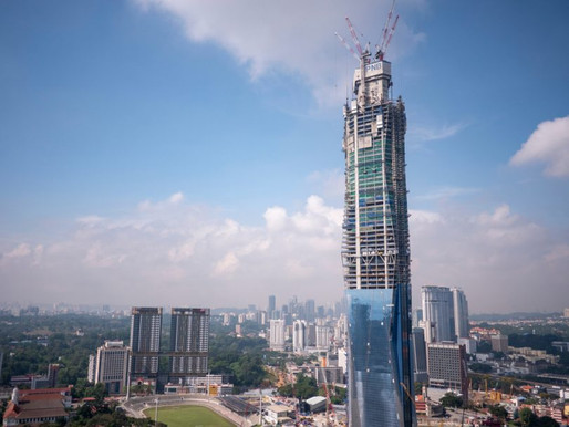 Malaysia is currently constructing the second-tallest building in the world