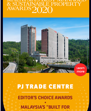 """PJ Trade Centre awarded """"Malaysia's Built for Sustainibility 2020"""""""