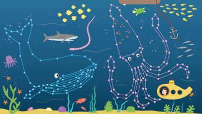 Deep water! Animal Dot to Dots