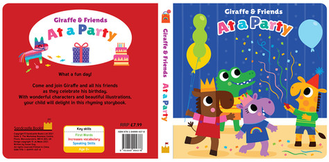 Giraffe and Friends At a Party