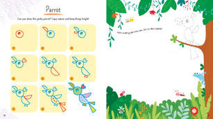 Draw a Parrot with Simple Shapes