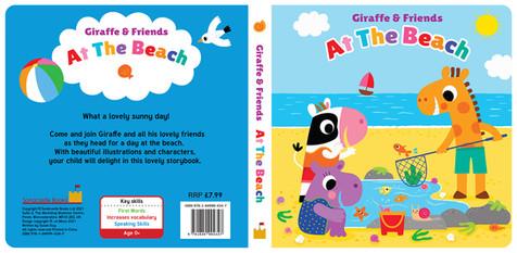 Giraffe and Friends At the Beach