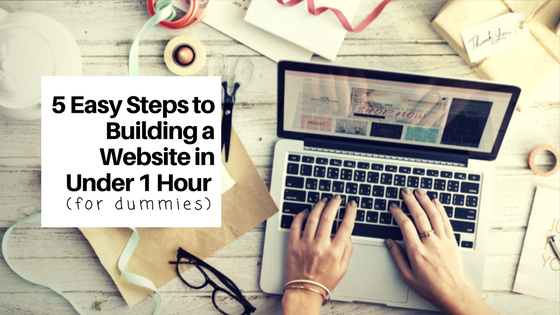 building a website in under 1 hour