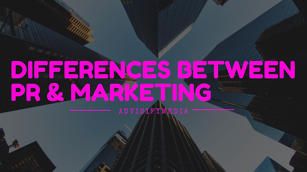 5 differences between pr and marketing graphic
