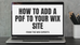 How to Add a Downloadable PDF to a Wix Site