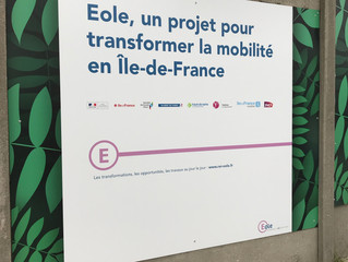 Visite du chantier Eole à Nanterre
