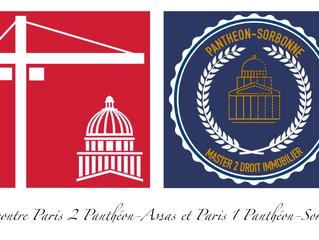 Rencontre Paris 2 / Paris 1 - Droit immobilier