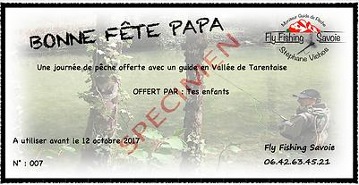 moniteur guide de pêche en Savoie pensez a offrir un bon cadeau avec un guide