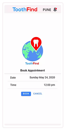 book appointment on toothfind app