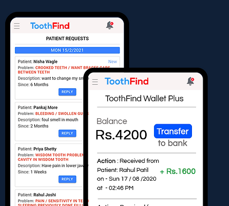 Dentist earn with toothfind app