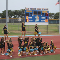 Cheerleaders Cheering at the Game