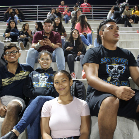 Our Wrestling Team Supporting our Football Team