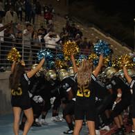 Cheerleaders Congratulating the Football Team