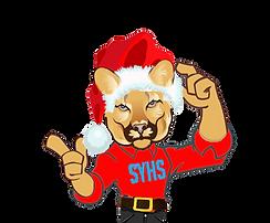 Cougar Mascot XMAS.png