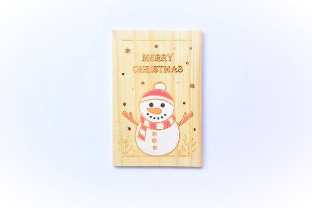 色彩繽紛聖誕卡