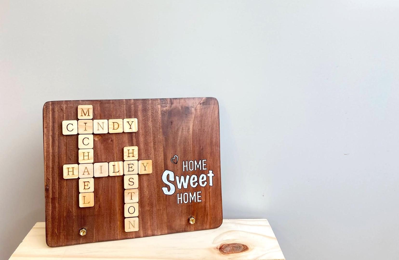 訂製拼字木牌