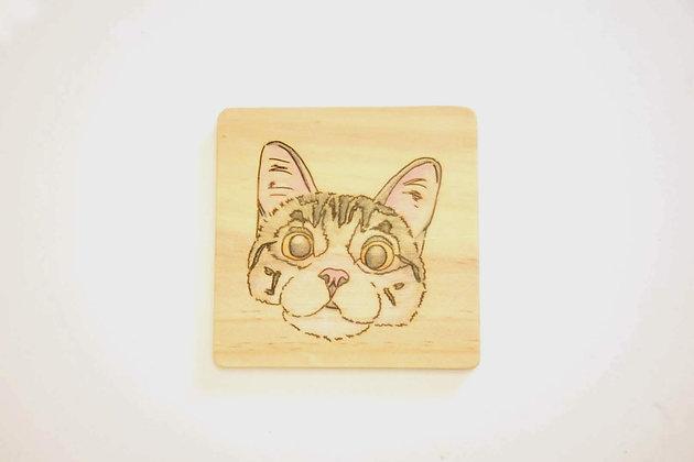 貓杯墊-英短