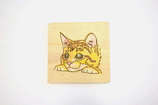 貓畫像 - 中華田園貓雙手(橘)