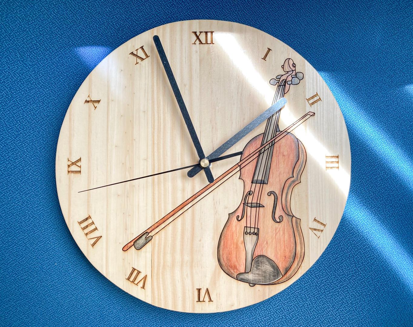 訂製手繪小提琴掛鐘