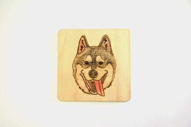 狗畫像 - 哈士奇