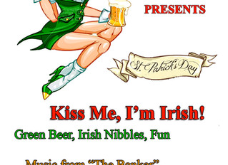 St.Patrick's Day - Saturday March 17th