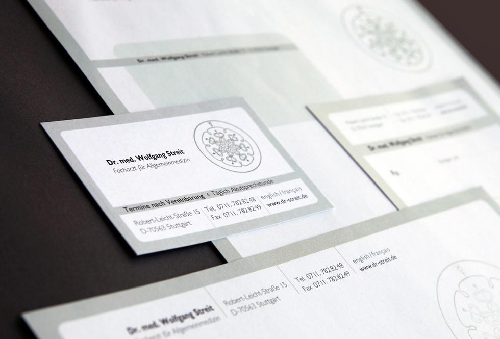 Visitenkarte, Brief, Rezeptblatt