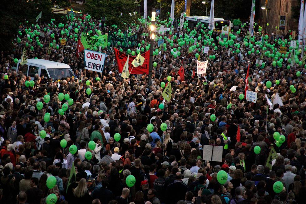 PR-Foto Demonstration