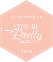 As featured in Style Me Pretty