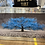 Thumbnail: Blue Cherry Tree on Mirrored Frame 110x60cm
