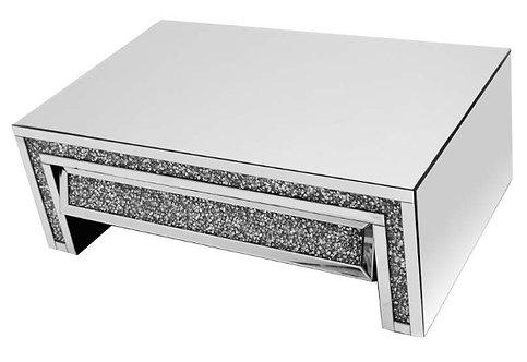 Angled Crushed Diamond Drawer Coffee Table