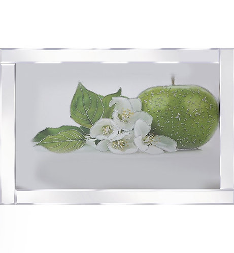 Apple & Lillies on Mirrored Frame