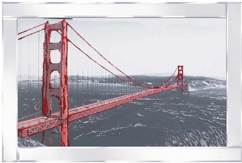Golden Gate Bridge on Mirrored Frame