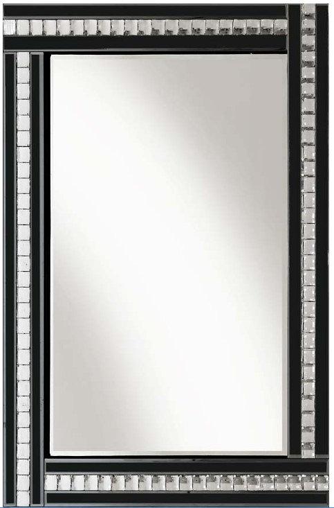 Black Crystal Triple Bar Mirror 120x80cm