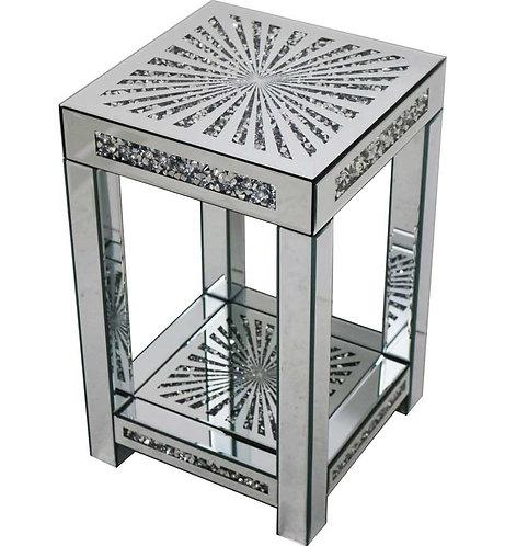 Medium Sunburst Crushed Diamond Side Table
