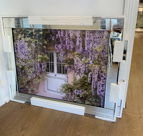 Cottage Door on Mirrored Frame 95x75cm
