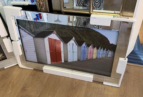 Beach Cabins on Mirrored Frame
