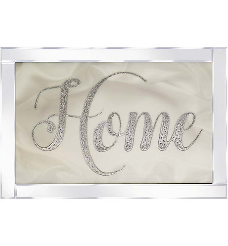 Home on Mirrored Frame