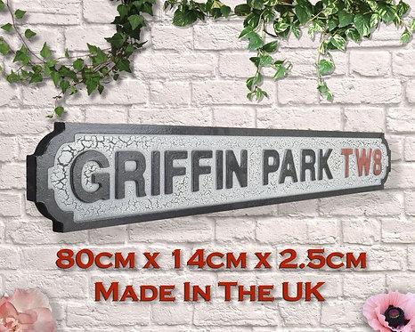 Griffin Park Road Sign