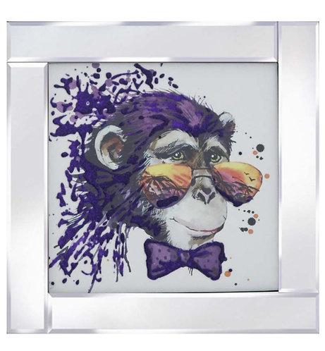 Chimpanzee on Mirrored Frame