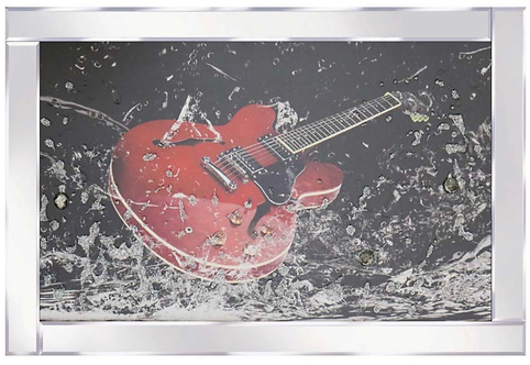 Guitar on Mirrored Frame